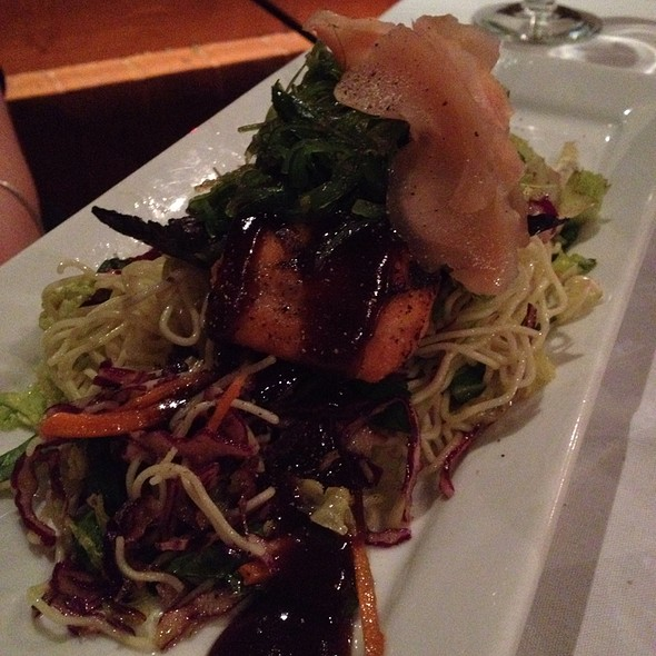 Soy Ginger Bbq Salmon With Seaweed Salad - Maple Leaf Grill, Banff, AB