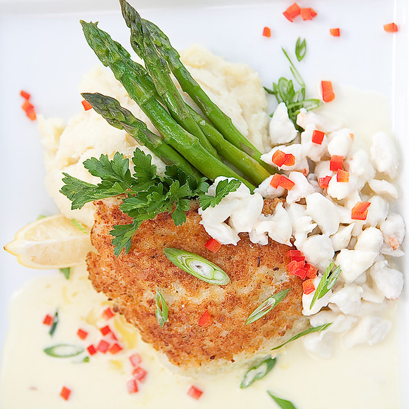 Parmesan Grouper with Lump Crab - Pearl's Saltwater Grille, Savannah, GA