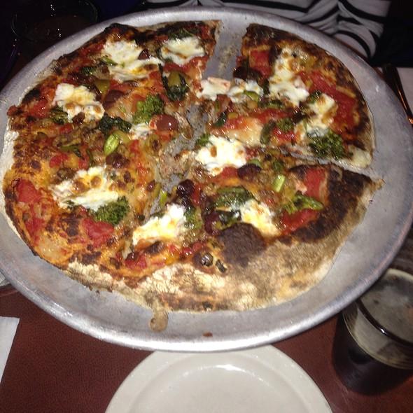 Broccoli Rabe, Sausage & Olive Pizza @ Picco