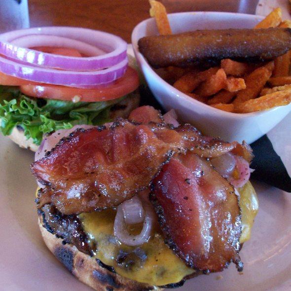 Young's BBQ Stout Burger @ The Pub