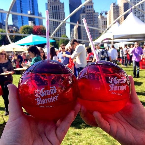 Raspberry Peach Cocktail @ Chicago Gourmet @ Millenium Park