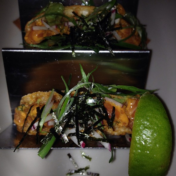 Salmon Tartare Tacos - The Smith - Midtown