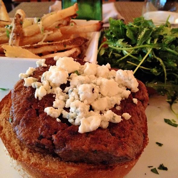 Truffled Cheeseburger & Truffled Fries - White Oak Kitchen + Drinks, Houston, TX
