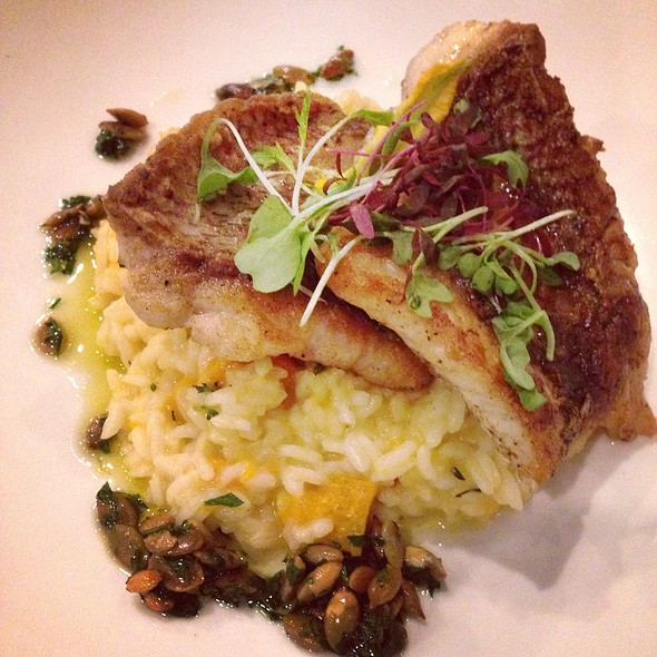 Yellowtail Snapper & Butternut Squash Risotto - Black Sheep Restaurant, Jacksonville, FL
