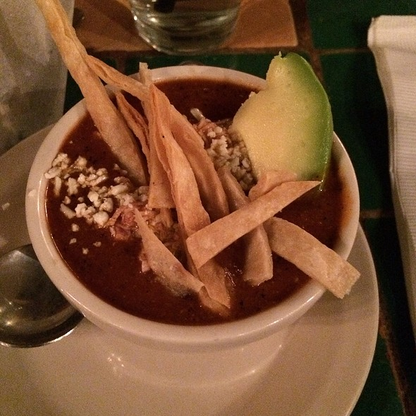 Chicken Tortilla Soup - Blue Agave Restaurante y Tequileria, Baltimore, MD