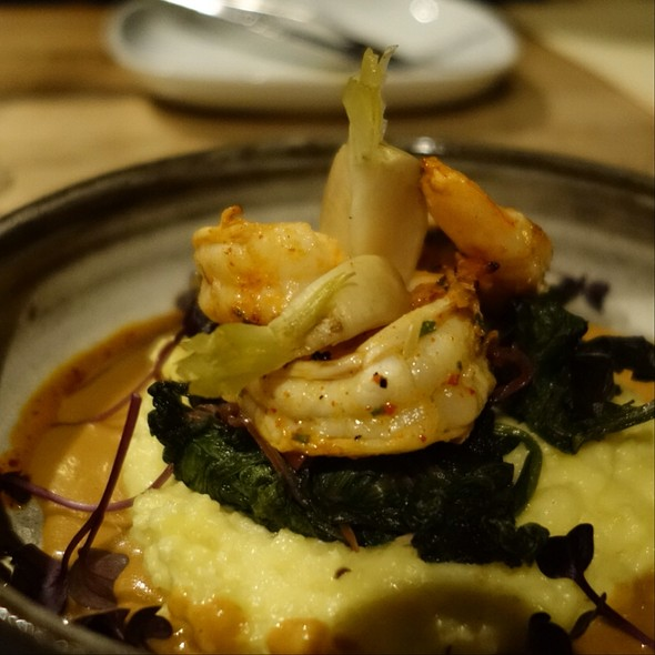 Grilled White Shrimp With Polenta
