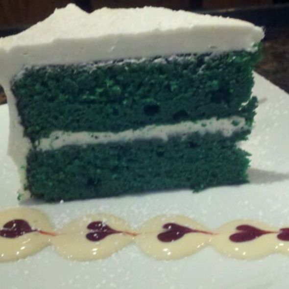 ST.PATRICKS DAY GREEN VELVET CAKE - Castalia 997 Restaurant & Lounge, Woodland Park, NJ