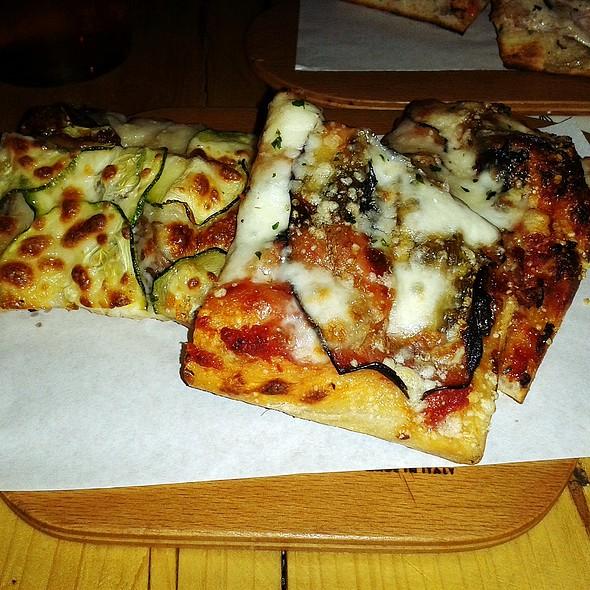 Eggplant And Zucchini Pizza @ Al Cuadrado Taglio Bar