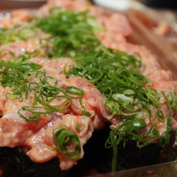 Spicy Ahi Nigiri @ Kuru Kuru Sushi