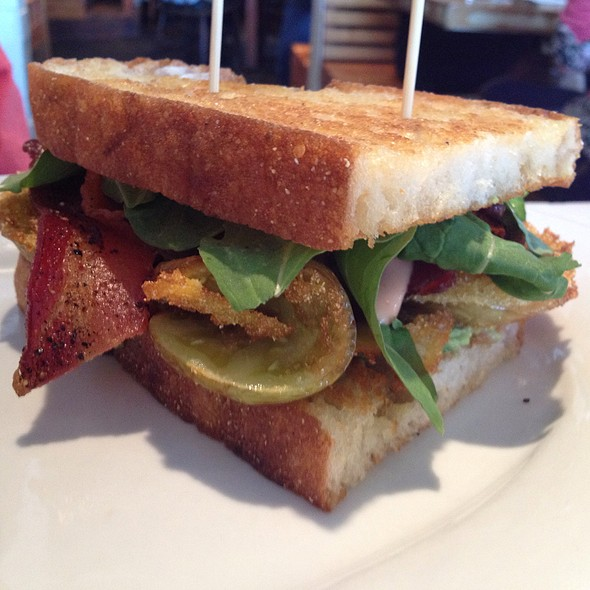 Bacon, Lettuce & Fried Green Tomato Sandwich @ Oddfellows