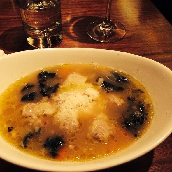 Meatball, Kale & Fregola Soup @ Claudine