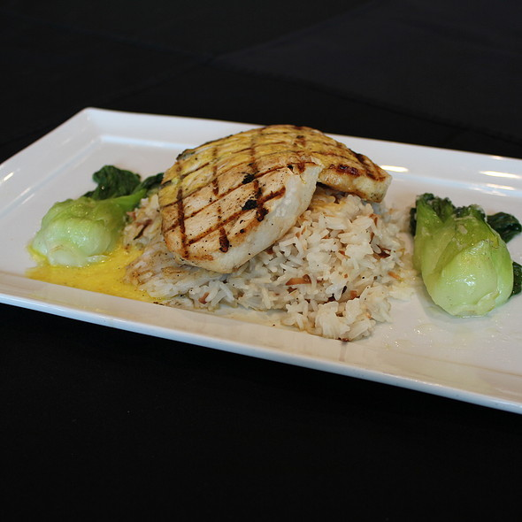 Swordfish with Coconut Risotto - Waterside Grill – Tampa Marriott Waterside, Tampa, FL