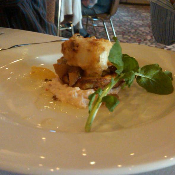 Smoked Salmon Mousse with Potato Latke @ Steamboat Landing Resort