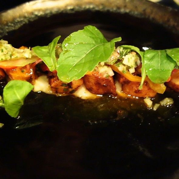 Octopus, White Beans, Cranberry Salsa Verde, Baby Arugula - Marc Forgione, New York, NY