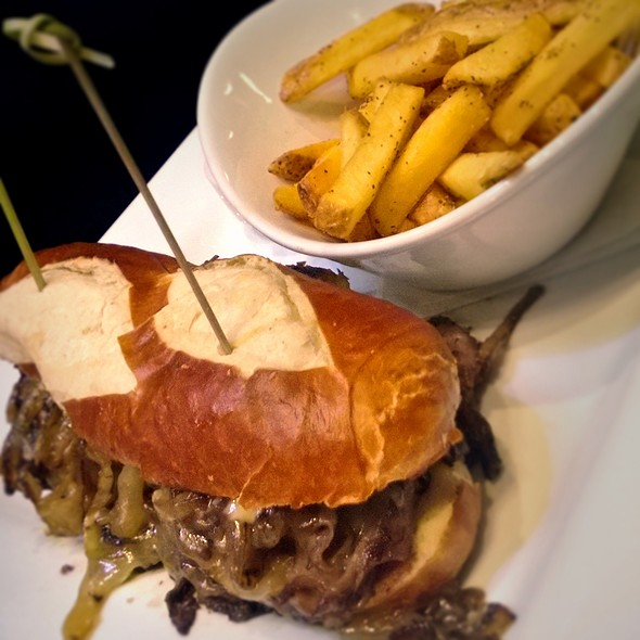 Prime Rib Sandwich with Red Wine Jus @ Society Gathering House