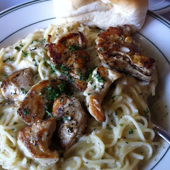 Blackened Chicken Alfrado - Poor Boy's Riverside Inn, Broussard, LA