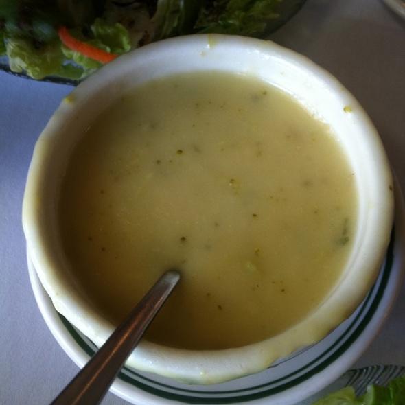 Cream Of Broccoli Soup - Poor Boy's Riverside Inn, Broussard, LA