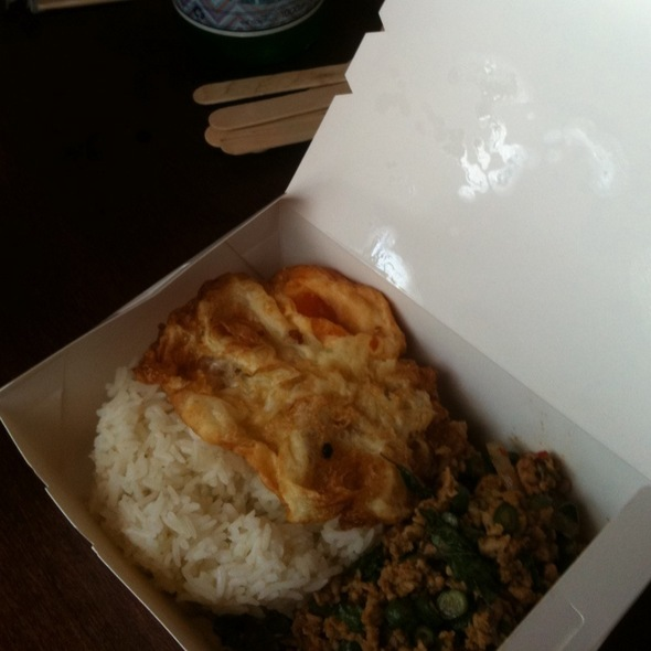 Chili Chicken Basil Rice @ Tuk Shop