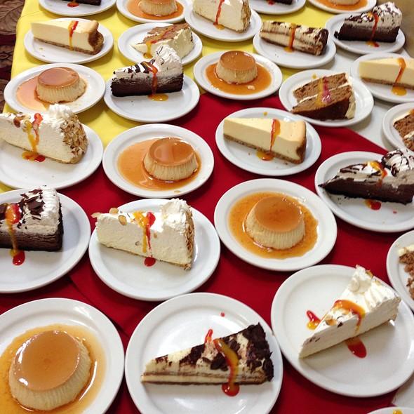 Assorted Desserts At Patio Espanol Restaurant