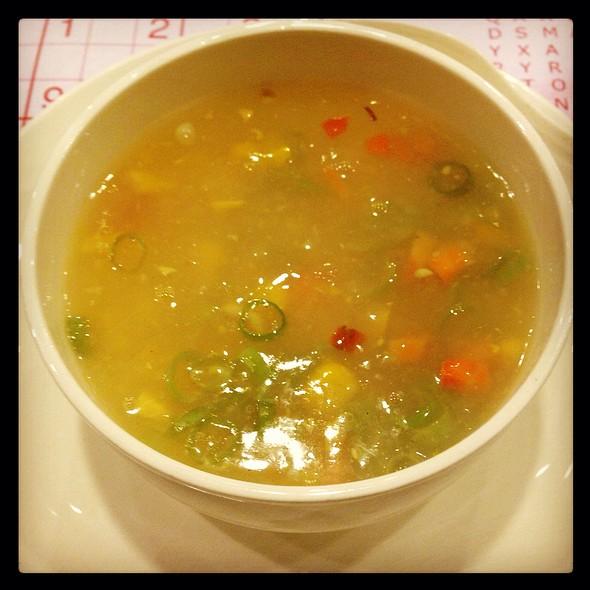 Sweet Corn Soup @ Desi Rasoi