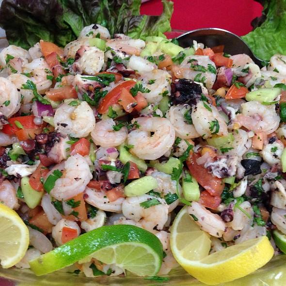 Shrimp And Octopus At Patio Espanol Restaurant