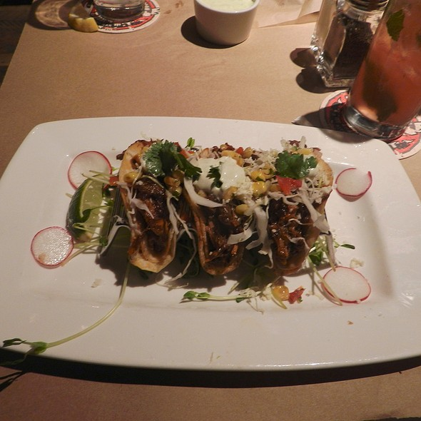 Chipotle BBQ Pork Soft Tacos - Guy's American Kitchen and Bar, New York, NY