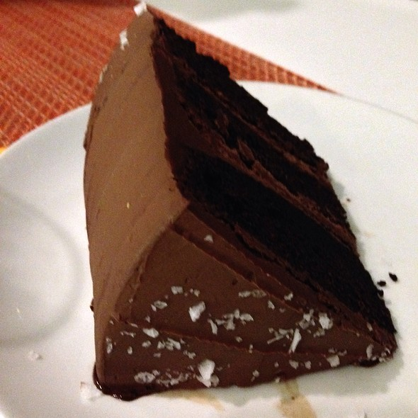 flourless chocolate cake - Sportello, Boston, MA