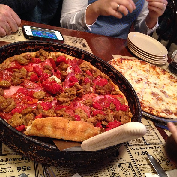 Meat Lovers Pizza & Bbq Chicken Pizza @ The Italian Pie Shoppe & Winery