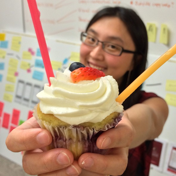 Berry Cupcake @ La Luna Cupcakes