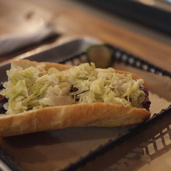 Veal Sausage Brat with Sauerkraut @ Brat Haüs