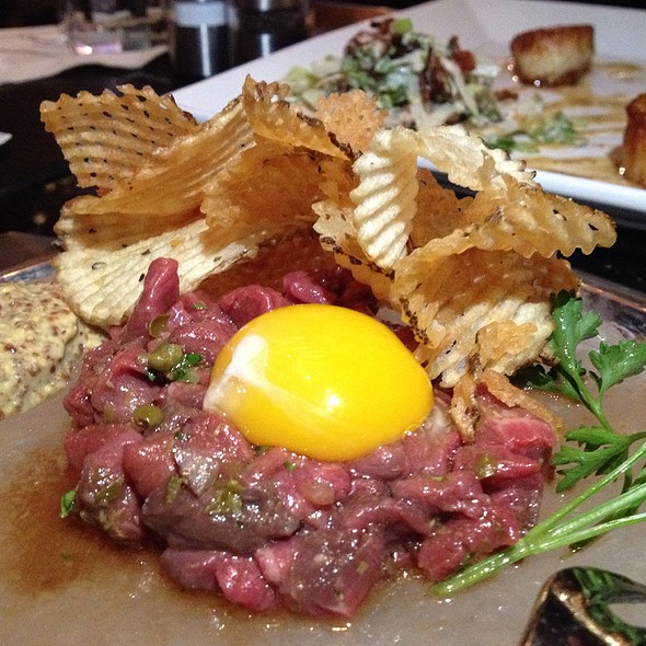 steak tartare @ Vic and Anthony's Steakhouse