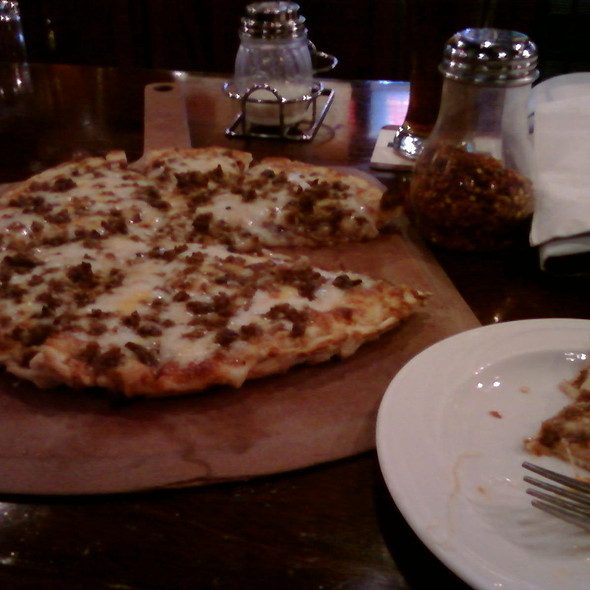 Sausage Pizza @ Triple 7 Restaurant and Microbrewery