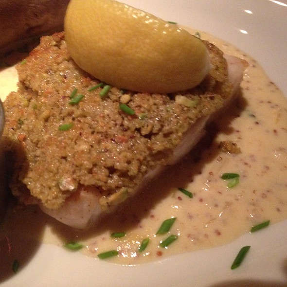 Pistachio Crusted Grouper - Pete Miller's Seafood and Prime Steak - Evanston, Evanston, IL