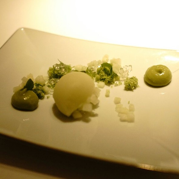 Green Apple And Lime Sorbet - Restaurant Gordon Ramsay, London