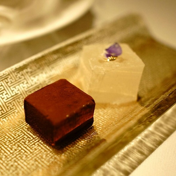 Chocolate Cake And Flower Jelly - Restaurant Gordon Ramsay, London