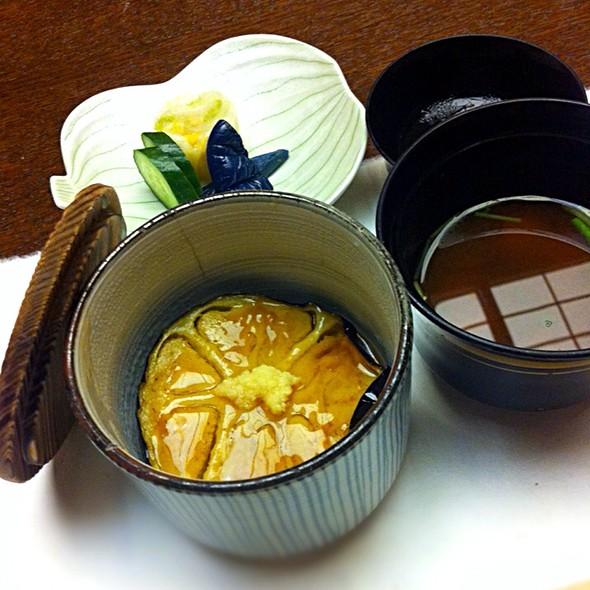 秋茄子麦ご飯と赤出汁 @ 温泉旅館 絆