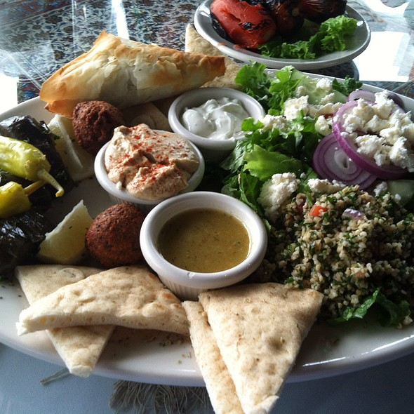 Vegetarian Middle Eastern Plate - Pars Cuisine, Albuquerque, NM