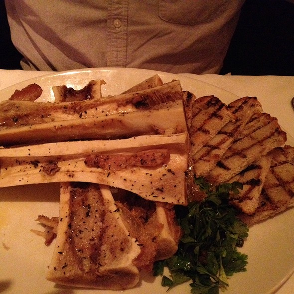 Roasted Bone Marrow With Parsley Salad - 801 Chophouse at the Paxton, Omaha, NE