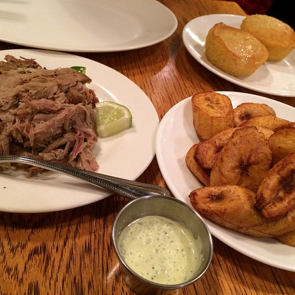 Pulled Pork With Plantains And Cornbread @ Brasa Rotisserie