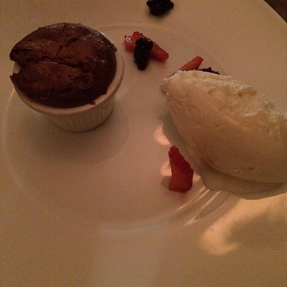 Dulce De Leche Souffle With Guanabana Ice Cream - The Palace, San Francisco, CA
