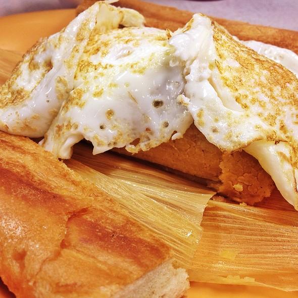 Tamale With Three Eggs @ La Ideal Sandwich Shop