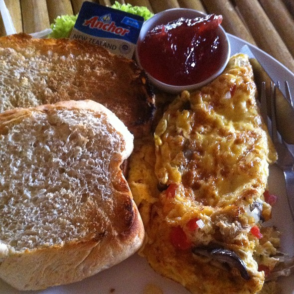 Mushroom Omelette @ Salween River Restaurant And Bar