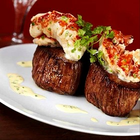 Filet Migon Topped With Lobster Tail