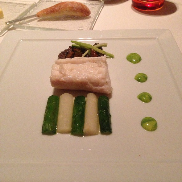 Halibut And Morel Mushrooms And Asparagus - Patina Restaurant, Los Angeles, CA