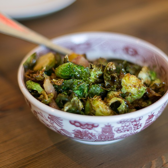 Brussels sprouts, salt pork, honey-sriracha @ Osmanthus