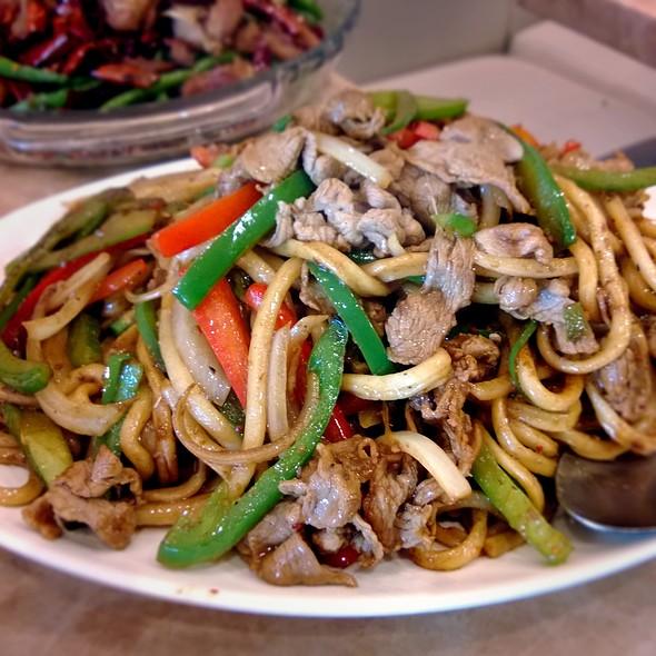 Cumin lamb stir-fry noodles @ Peaceful Restaurant