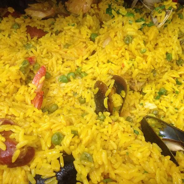 Paella Valencia At Patio Espanol Restaurant