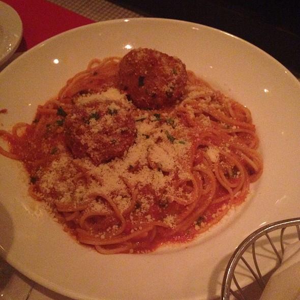 Spaghetti, Pork & Veal Meatballs - Petterino's, Chicago, IL