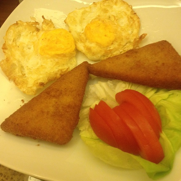 Deep Fried Breeded Cheese And Eggs