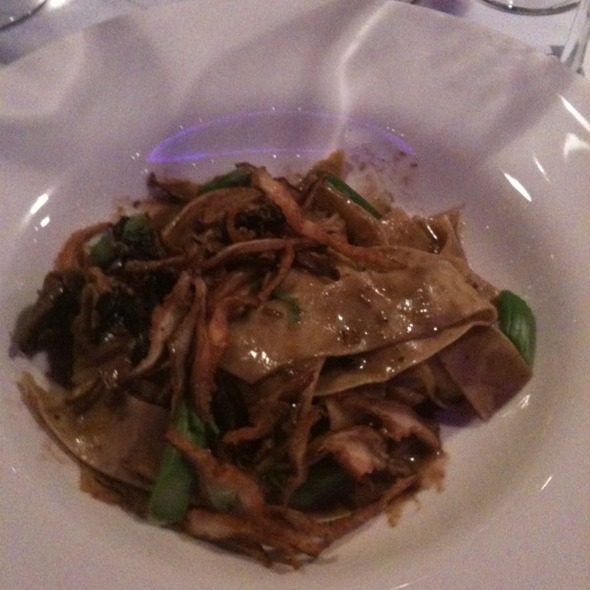 Wild Forest Mushroom Ragu with Asparagus And Pappardelle Pasta - Bistro 185, Cleveland, OH